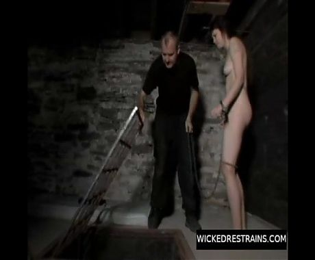 Pierced sub sendep session in dungeon