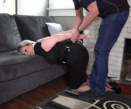 MILF Secretary stalked and tied up