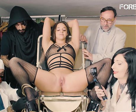 FORBONDAGE - Dirty Crowd Punish With BDSM Sex Amirah Adara