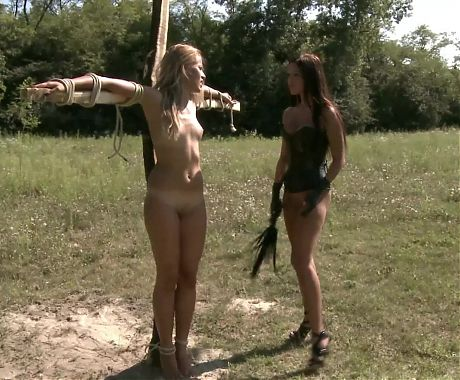 The crucifixion of the slave girl!
