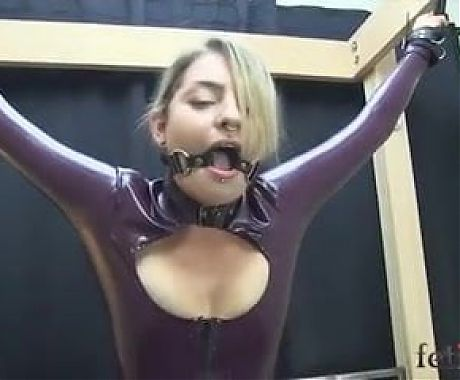 ballgag on sybian