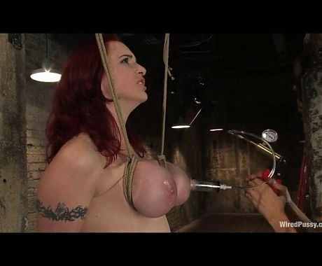 Woman on woman bondage, tied tits