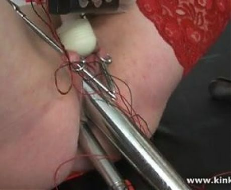 Pussy and anal electro stimulation