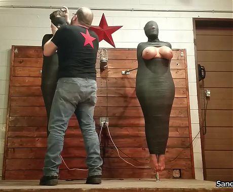 Busty Sandra and friend gagged and mummified by Soviet unit