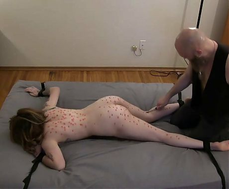 Sadistic Master Tortures His Slave With A Wartenberg Wheel!