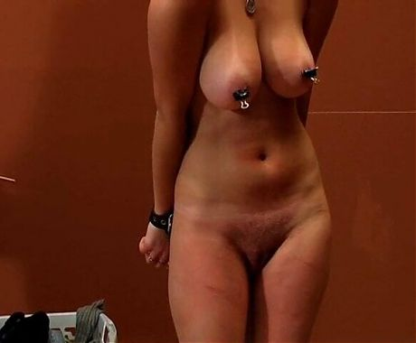 Hard tit pain and whipping