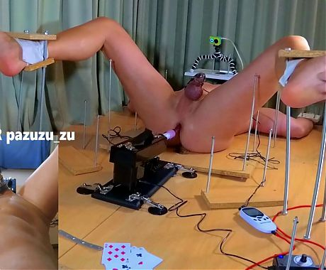 Femdom CFNM Cards Game + Anal Fuck Machine and Ruined Orgasm